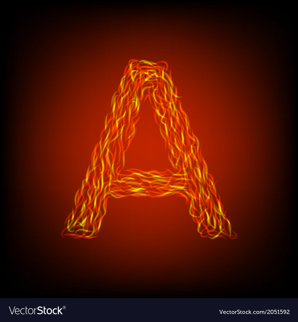 Fire letter a vector | Price: 1 Credit (USD $1)