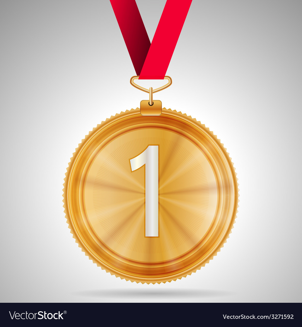 First place medal vector | Price: 1 Credit (USD $1)