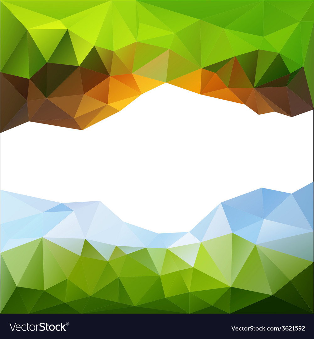 Green and blue and yellow triangle abstract vector | Price: 1 Credit (USD $1)