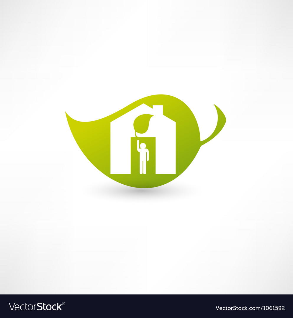 Green eco home vector | Price: 1 Credit (USD $1)