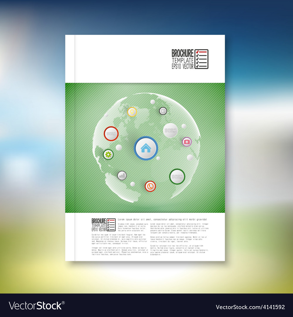 Infographic with colored circles brochure flyer vector | Price: 1 Credit (USD $1)