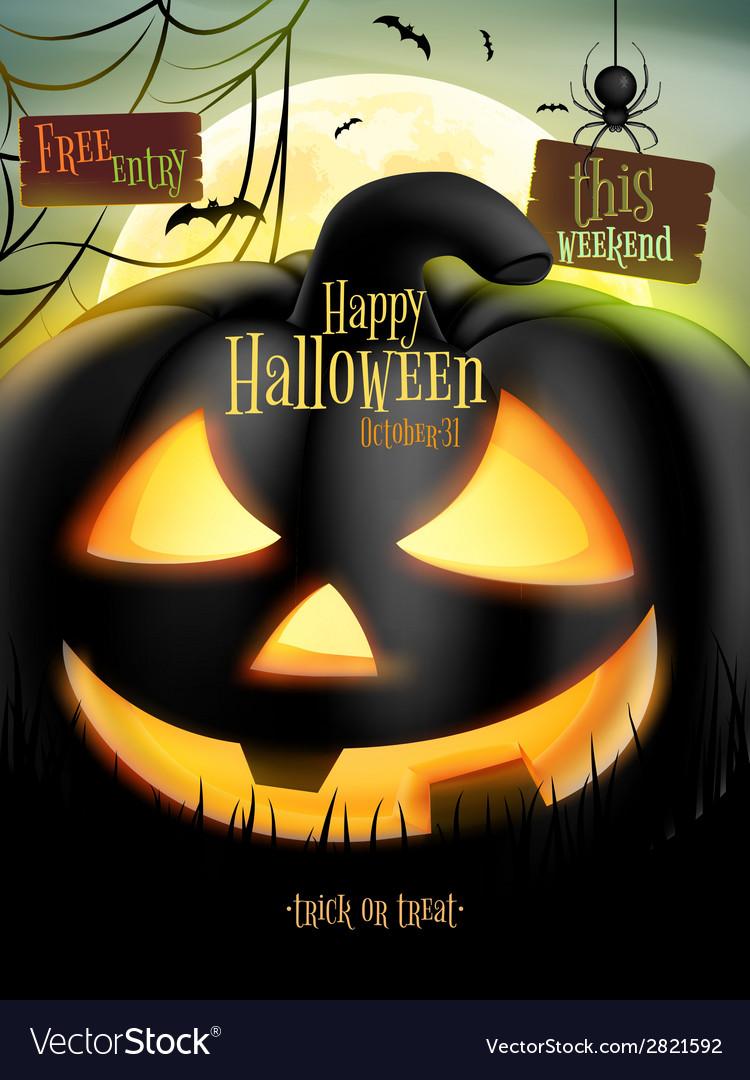 Jack-o-lantern smiling eps 10 vector | Price: 1 Credit (USD $1)