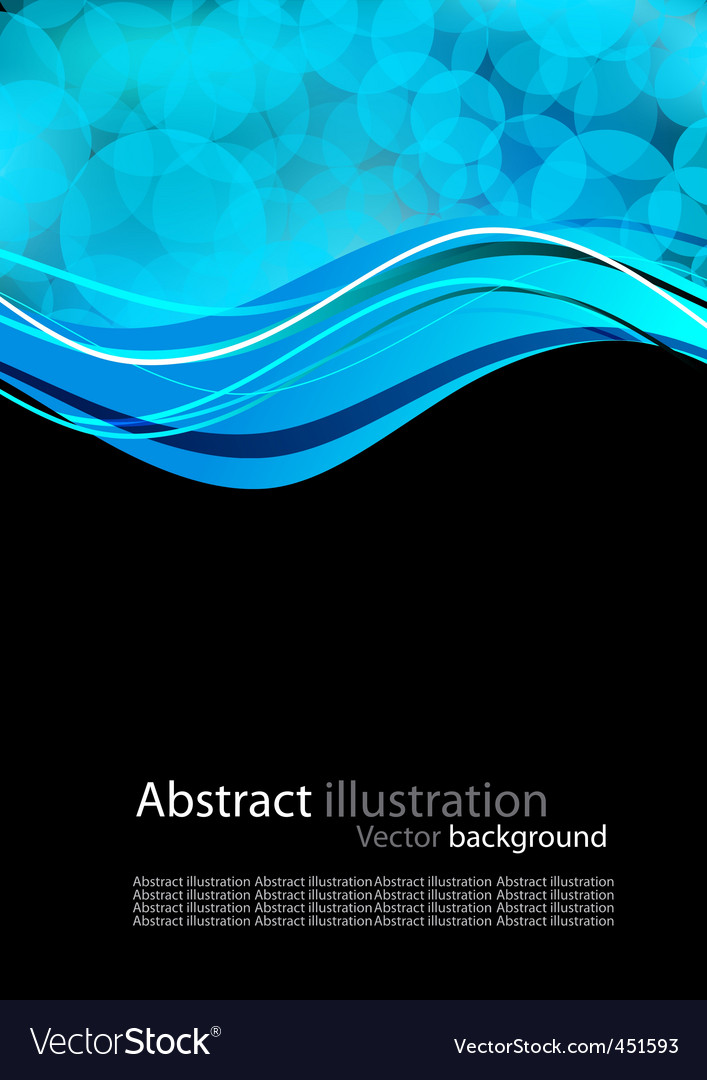 Abstract background with blue circles vector | Price: 1 Credit (USD $1)