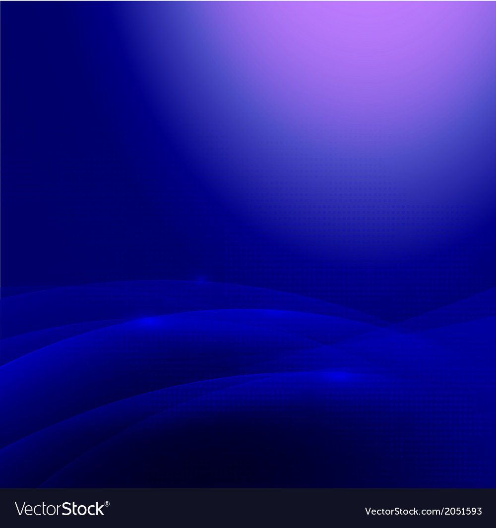 Abstract blue smooth flow background vector | Price: 1 Credit (USD $1)