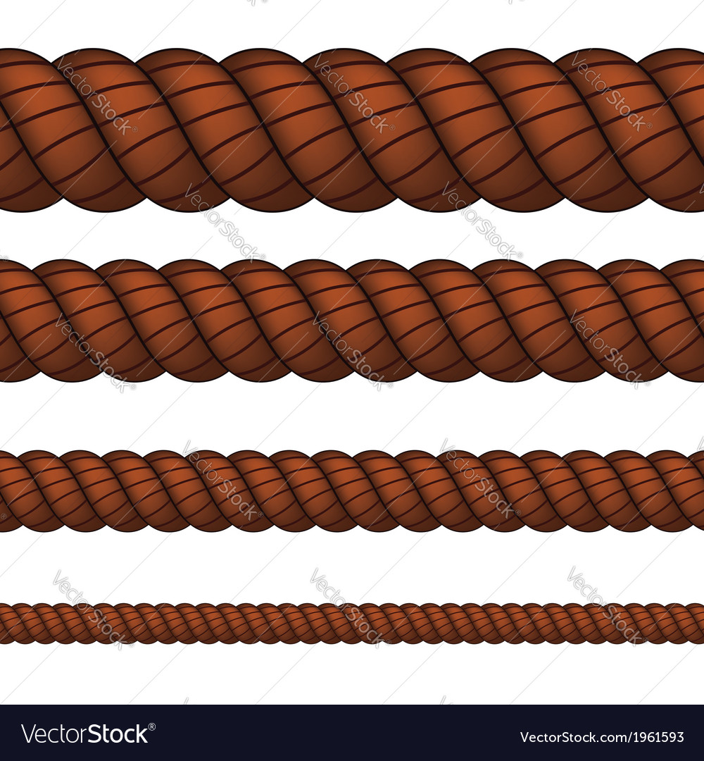 Brown rope in four sizes vector | Price: 1 Credit (USD $1)