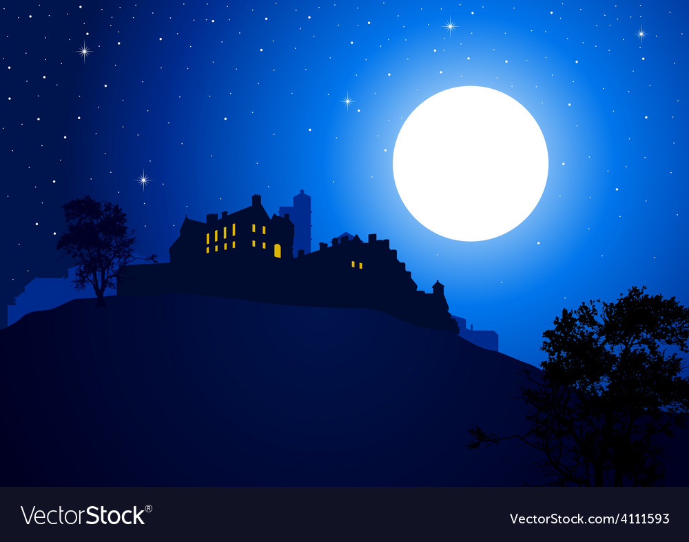 Castle at the mountain vector | Price: 1 Credit (USD $1)
