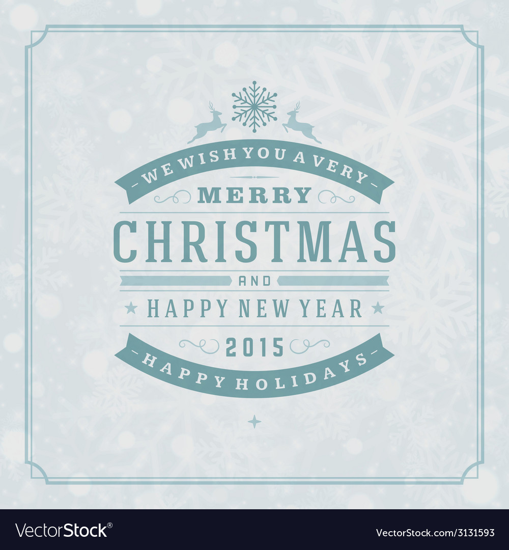 Christmas retro typography and light vector | Price: 1 Credit (USD $1)