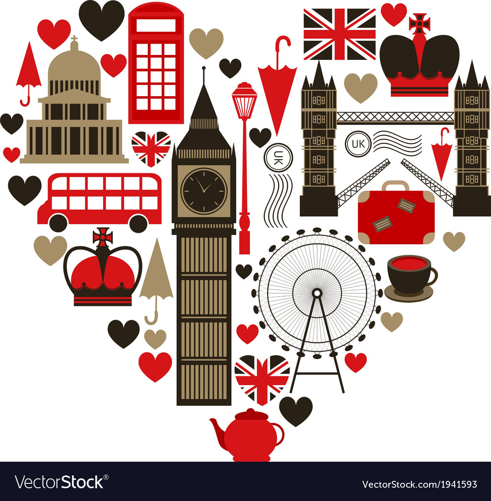 Love london heart symbol vector | Price: 1 Credit (USD $1)