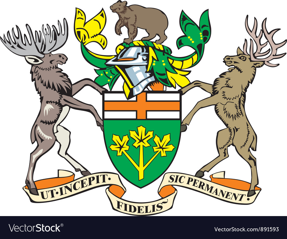 Ontario province coat-of-arms vector | Price: 1 Credit (USD $1)
