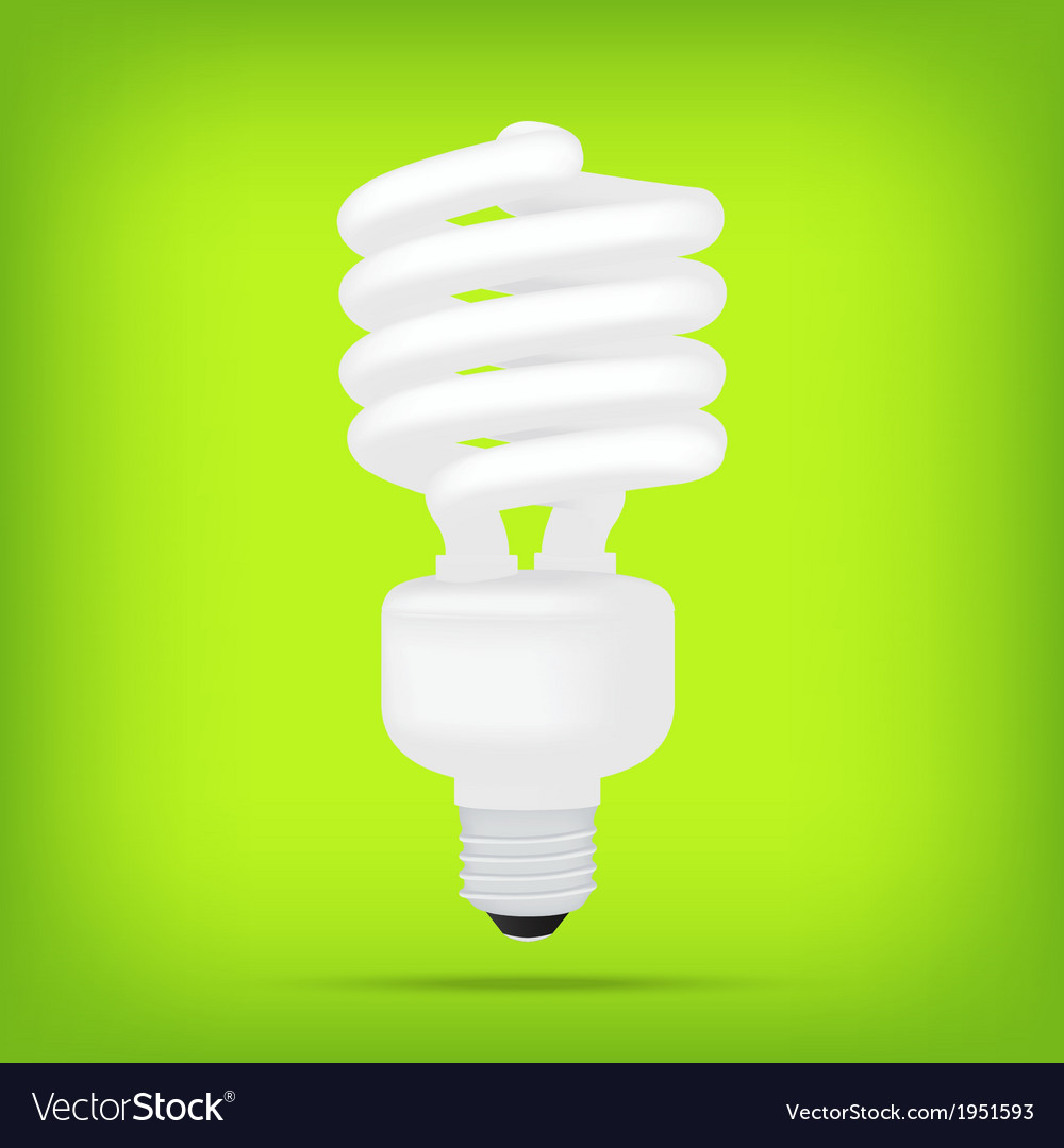 Popular eco green compact fluorescent lamps white vector | Price: 1 Credit (USD $1)
