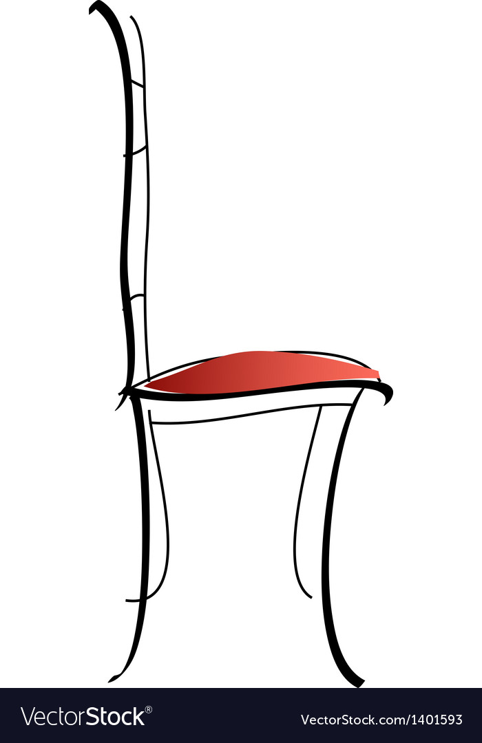 Styled chair vector | Price: 1 Credit (USD $1)
