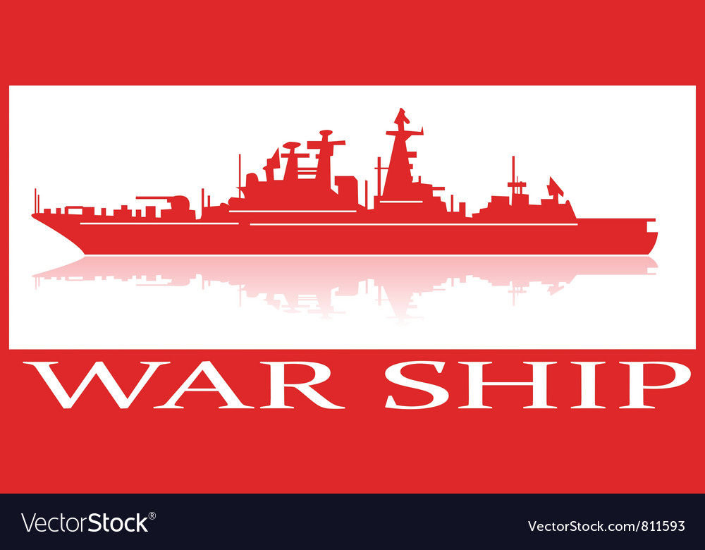 Warship vector | Price: 1 Credit (USD $1)