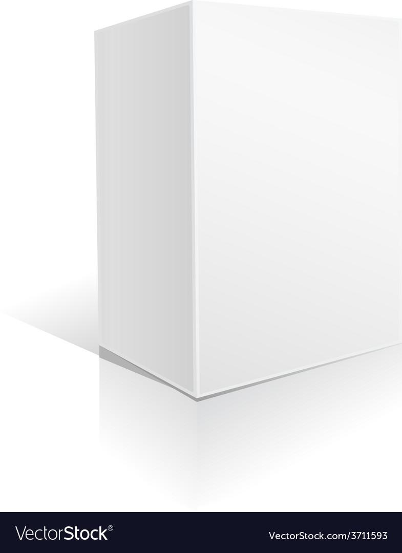 White big box vector | Price: 1 Credit (USD $1)