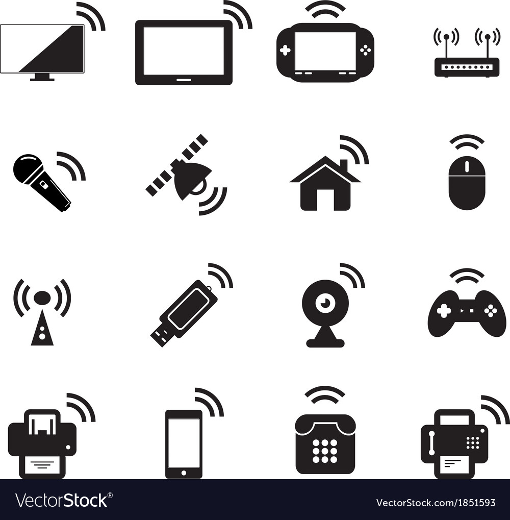 Wireless icon vector | Price: 1 Credit (USD $1)