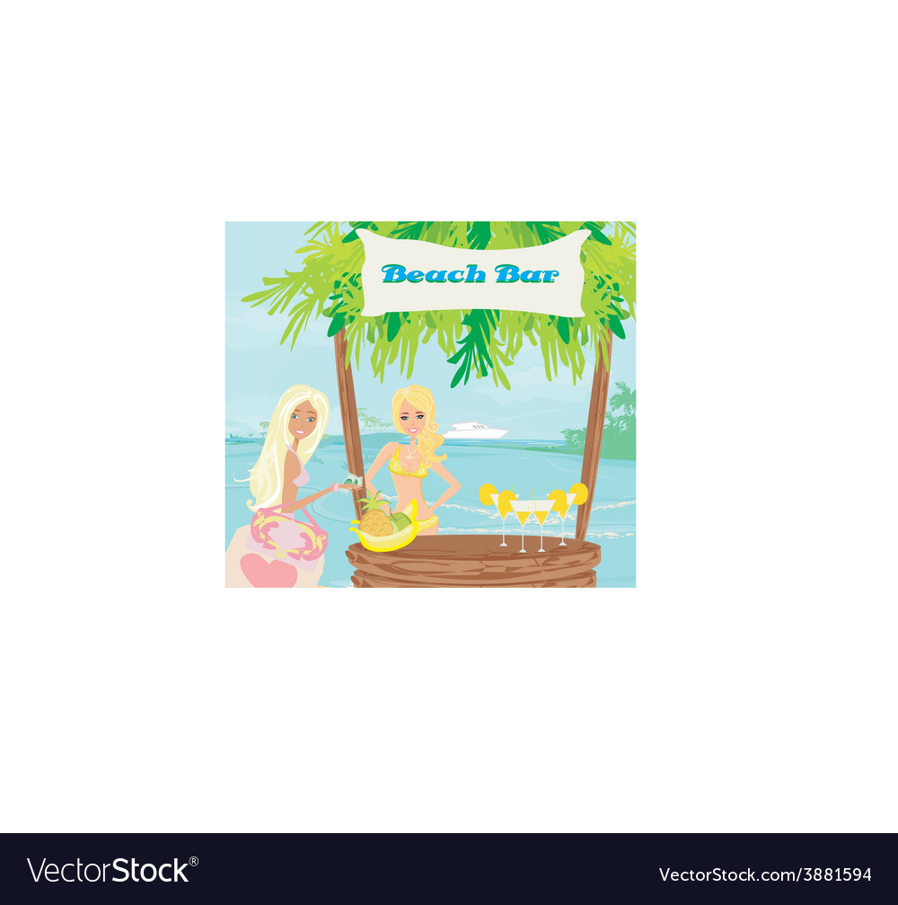 Bar on the beach vector | Price: 1 Credit (USD $1)