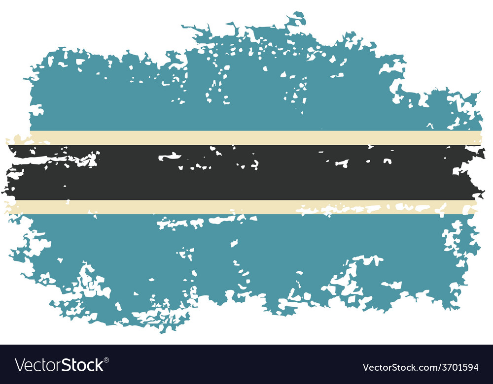 Botswana grunge flag vector | Price: 1 Credit (USD $1)