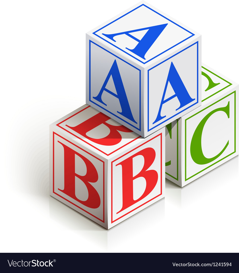 Brick abc vector | Price: 1 Credit (USD $1)