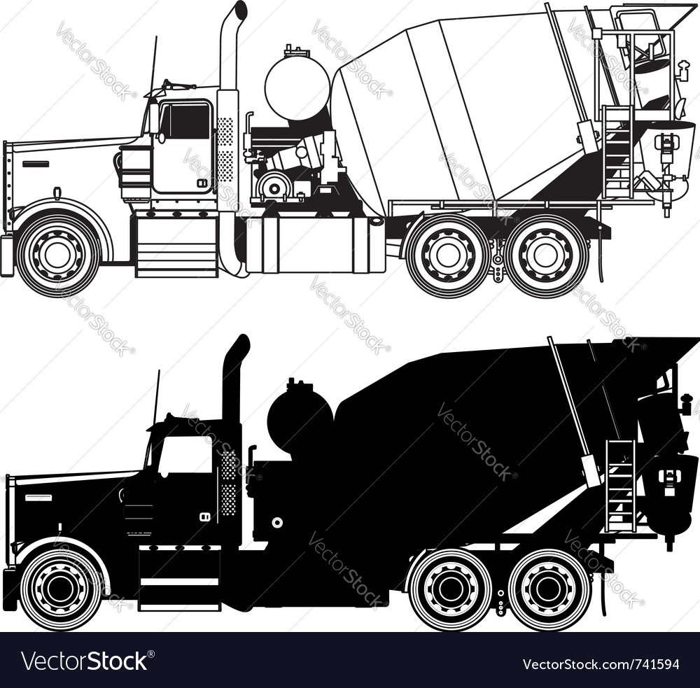 Concrete mixer truck vector | Price: 1 Credit (USD $1)