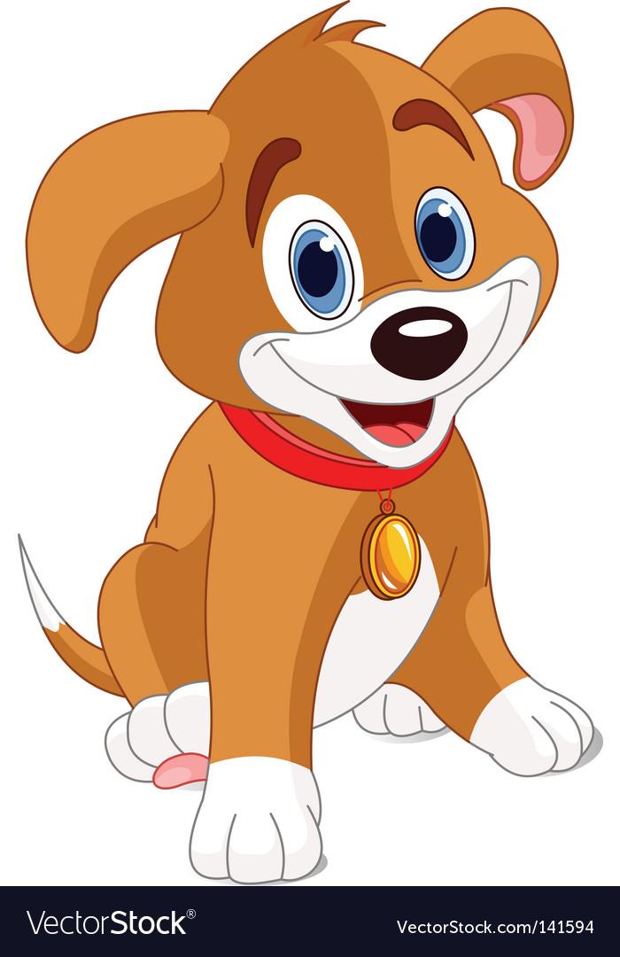 Cute puppy vector | Price: 1 Credit (USD $1)