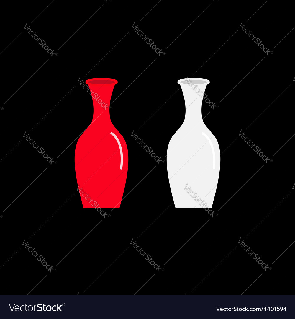 Feng shui vase icon set ceramic pottery glass vector | Price: 1 Credit (USD $1)