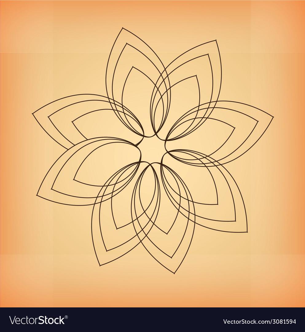 Flower design vector | Price: 1 Credit (USD $1)