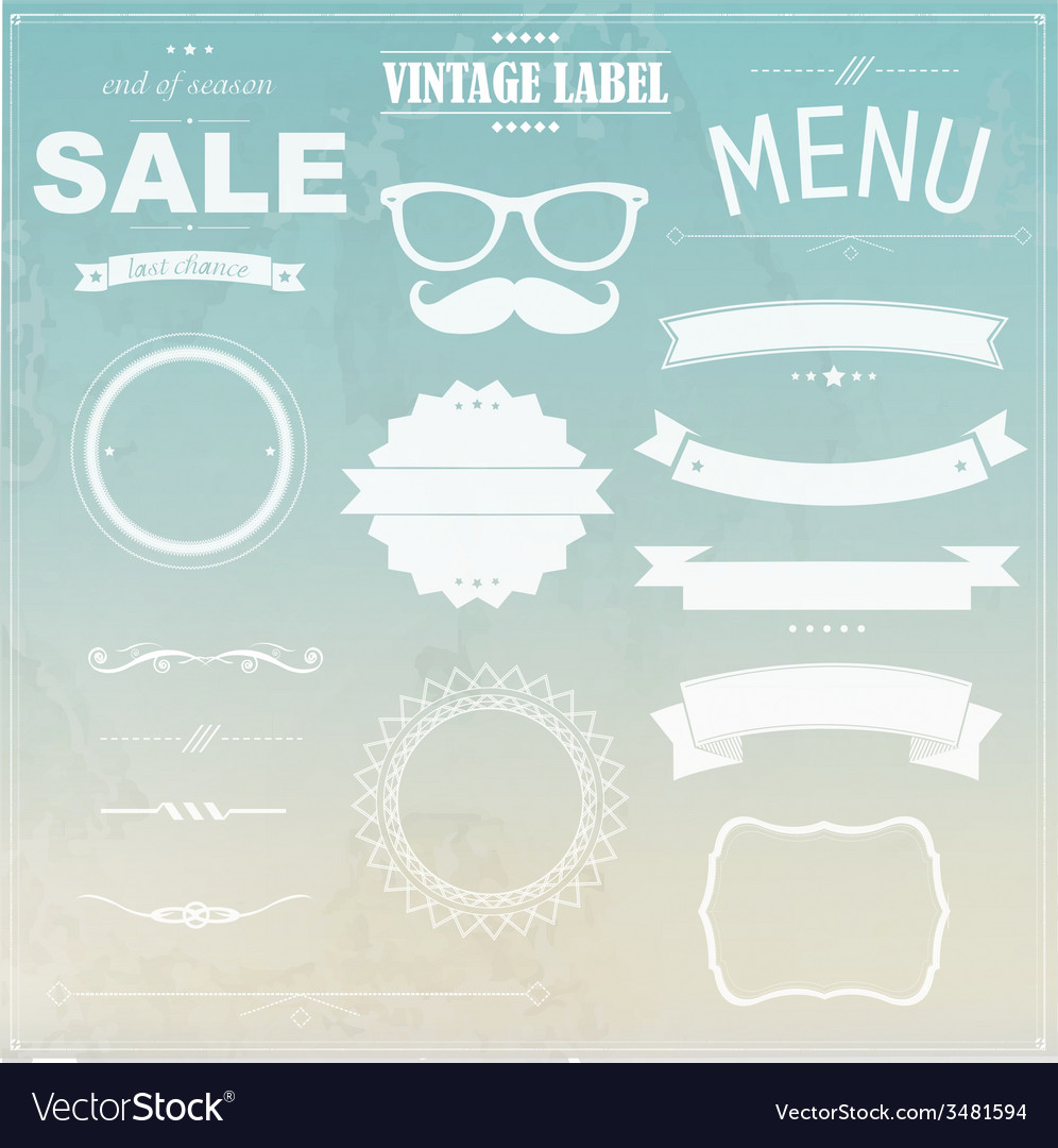 Grunge background with labels vector | Price: 1 Credit (USD $1)