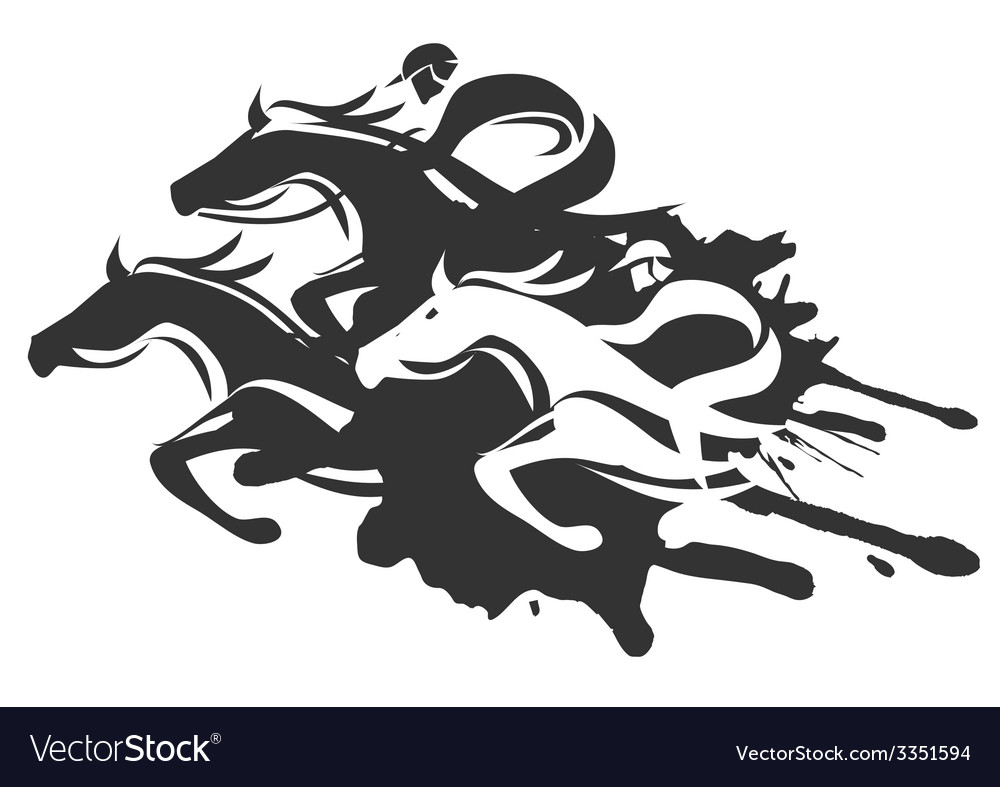 Horse racing vector | Price: 1 Credit (USD $1)