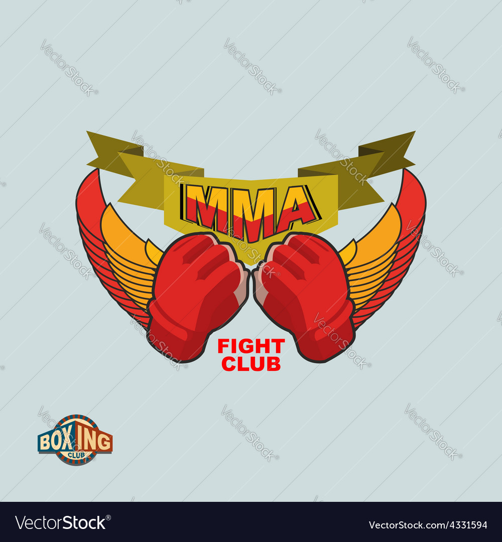 Mixed martial arts logo mma emblem vector | Price: 1 Credit (USD $1)