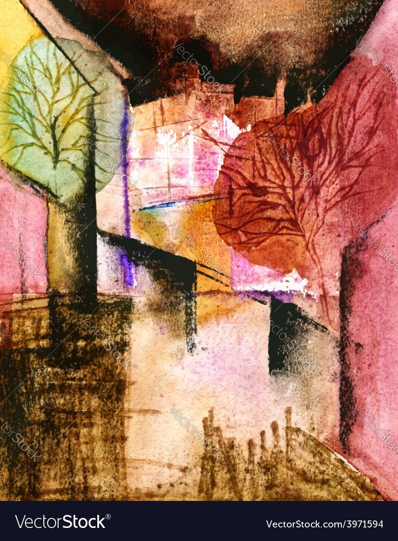 Original watercolor painting on paper version vector   Price: 1 Credit (USD $1)