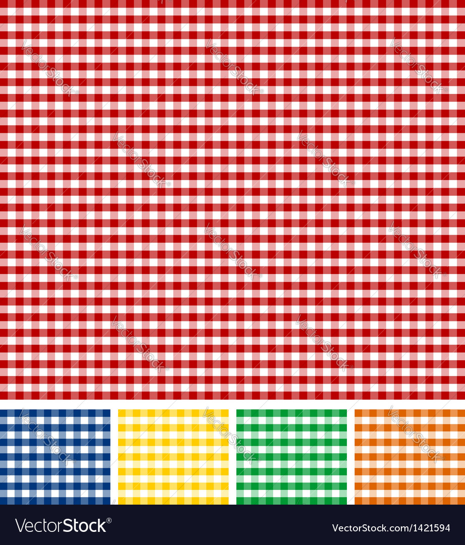 Picnic tablecloth texture vector | Price: 1 Credit (USD $1)