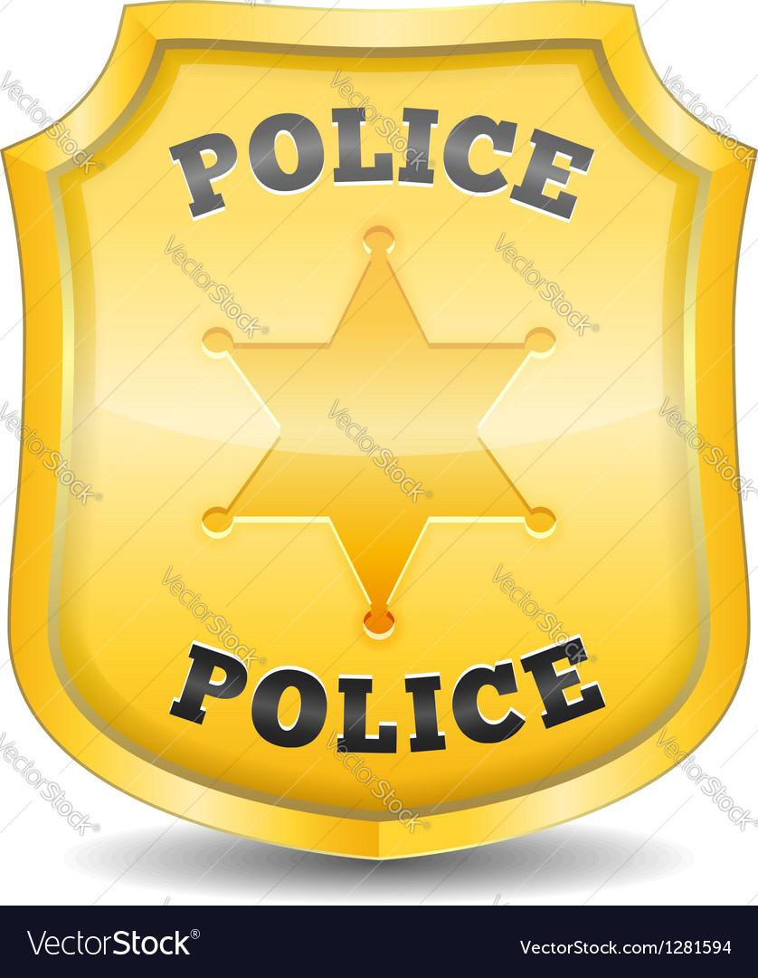 Police badge vector | Price: 1 Credit (USD $1)