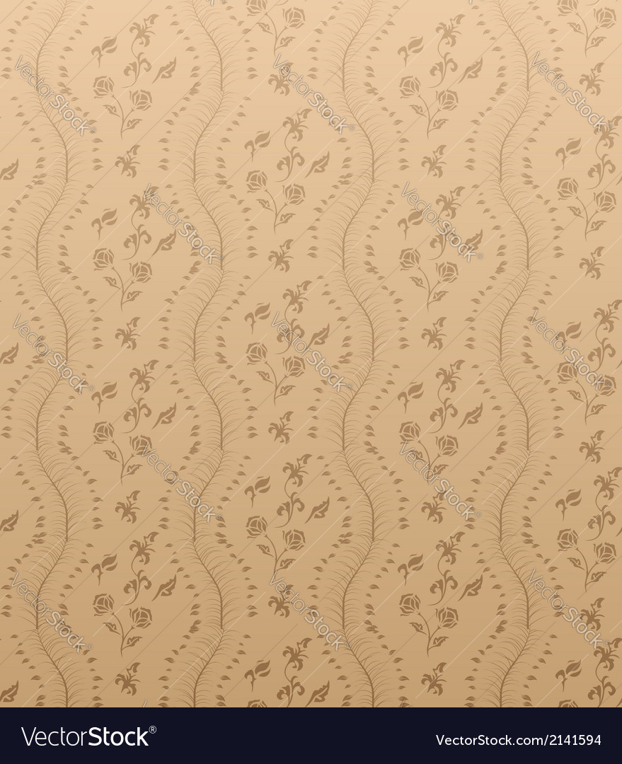 Seamless floral damask wallpaper vector | Price: 1 Credit (USD $1)