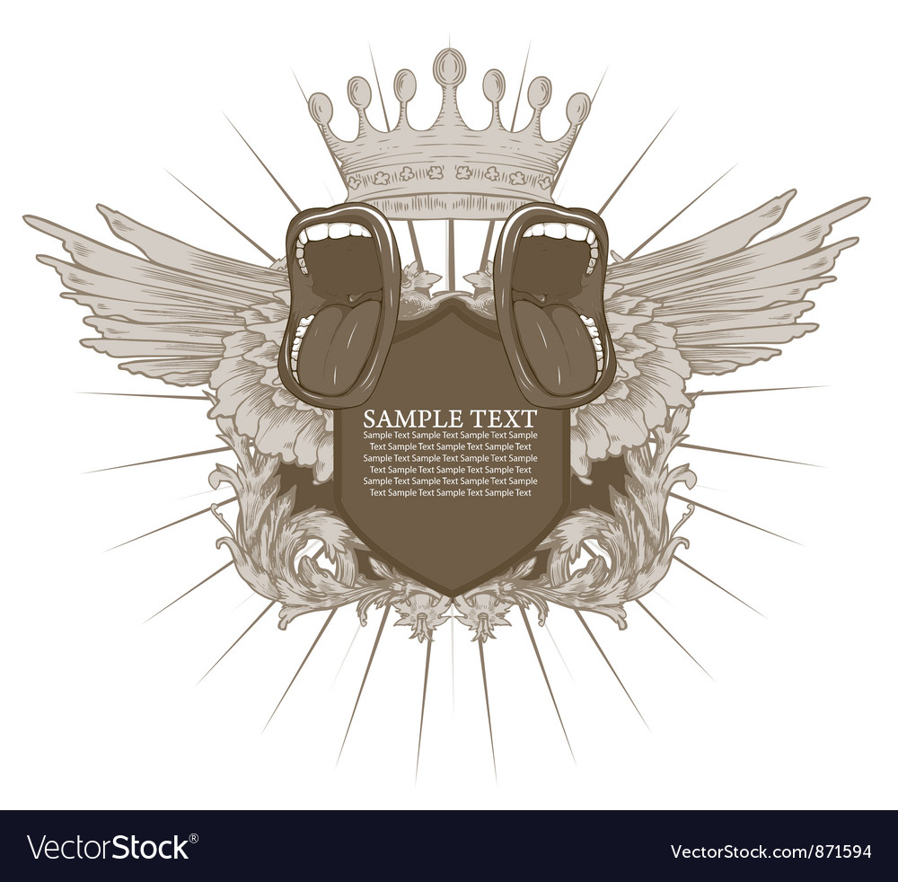 Vintage music emblem vector | Price: 1 Credit (USD $1)