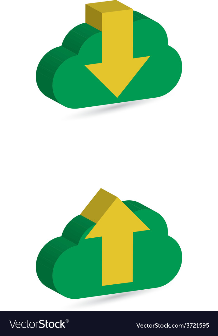 Cloud download and upload icon 8 vector | Price: 1 Credit (USD $1)