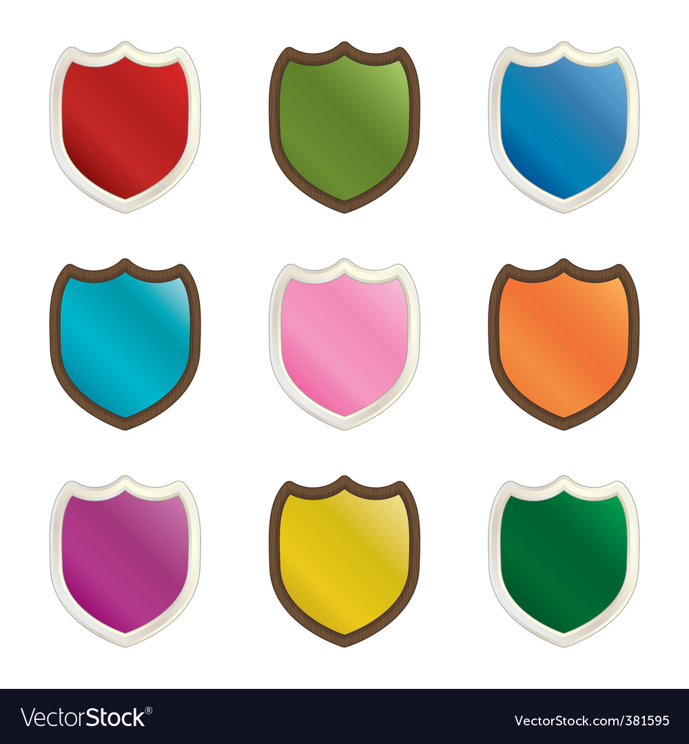 Decorative shields vector | Price: 1 Credit (USD $1)