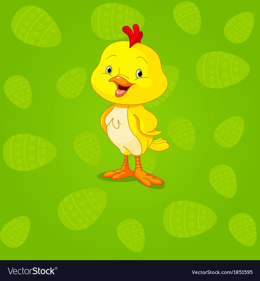 Easter chick background vector | Price: 3 Credit (USD $3)