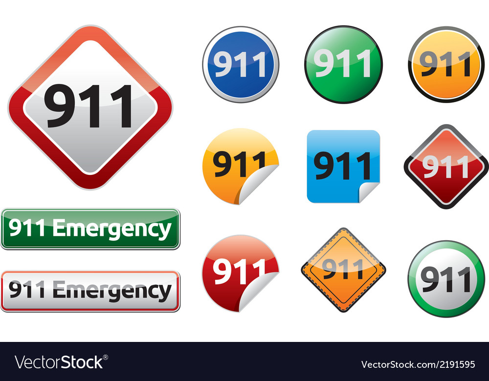 Emergency call 911 vector | Price: 1 Credit (USD $1)
