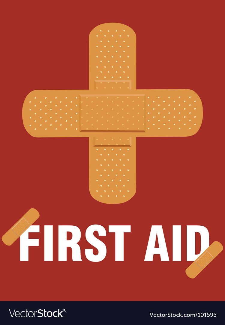 First aid poster vector | Price: 1 Credit (USD $1)