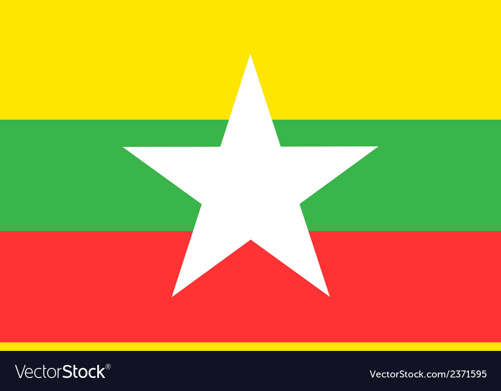 Flag of myanmar vector | Price: 1 Credit (USD $1)