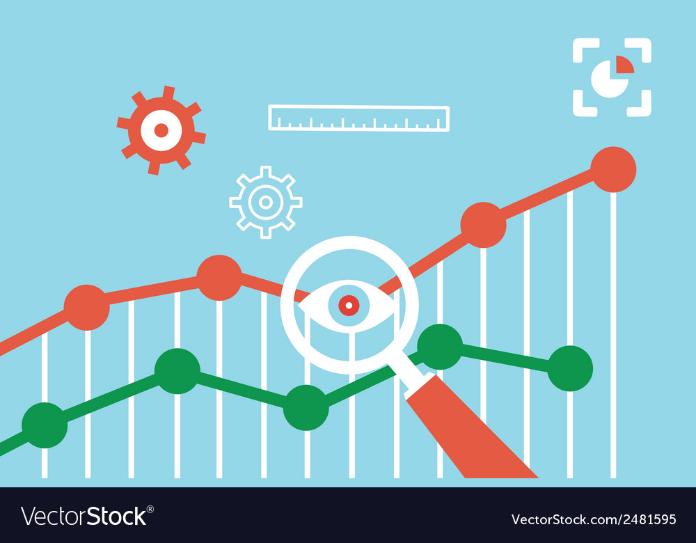 Flat concept of web analytics information vector | Price: 1 Credit (USD $1)
