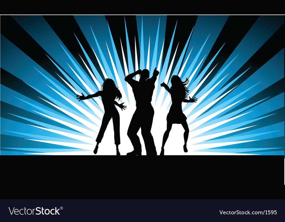 Funky dancers vector | Price: 1 Credit (USD $1)