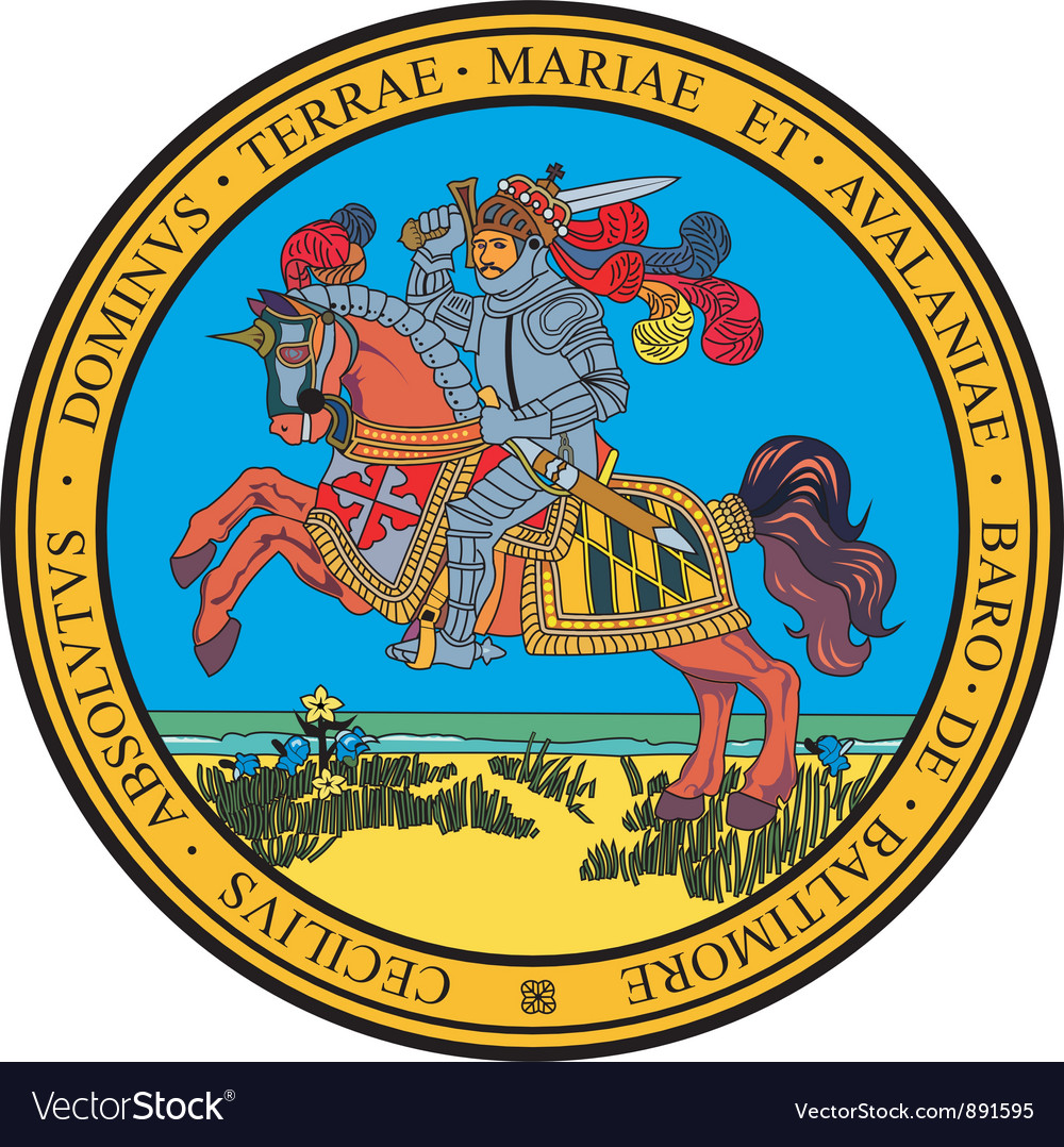 Maryland seal vector | Price: 1 Credit (USD $1)