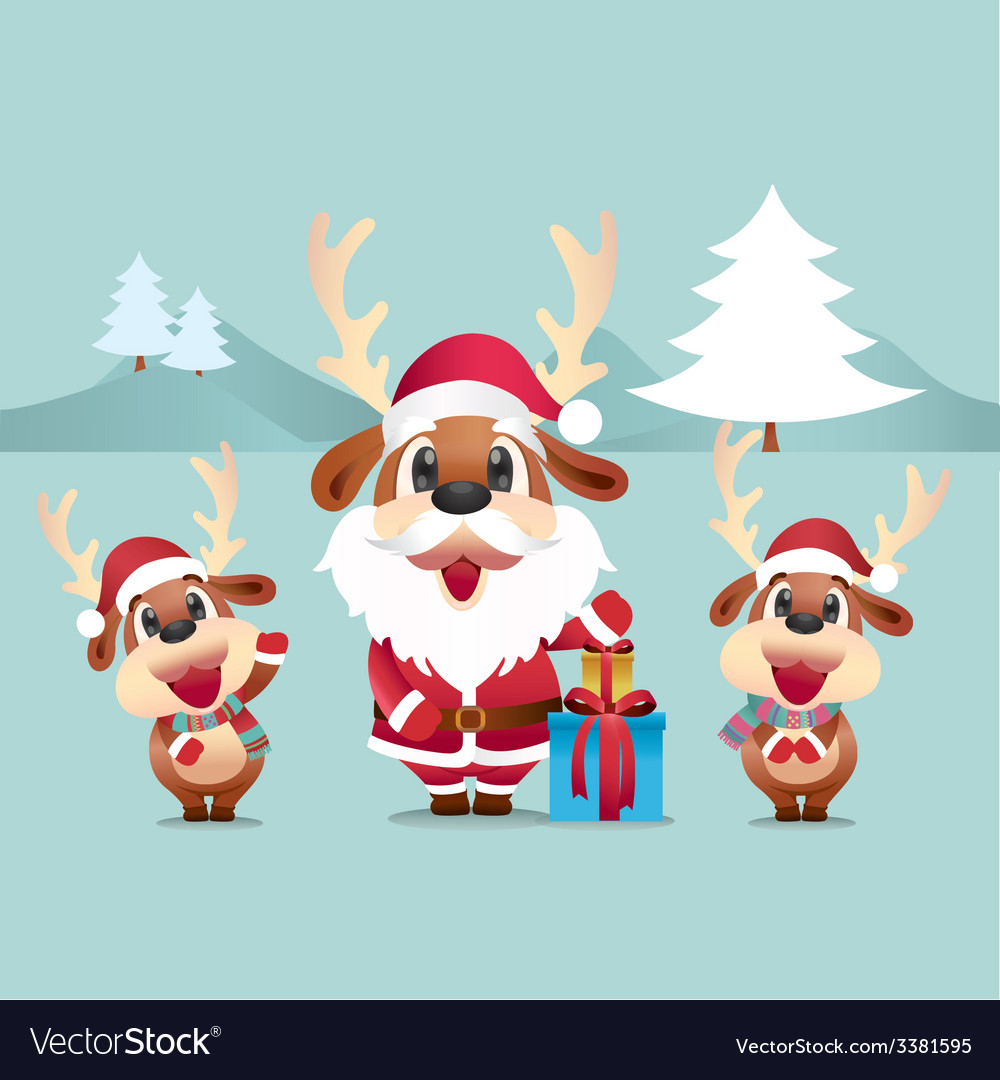 Reindeer santa vector   Price: 3 Credit (USD $3)