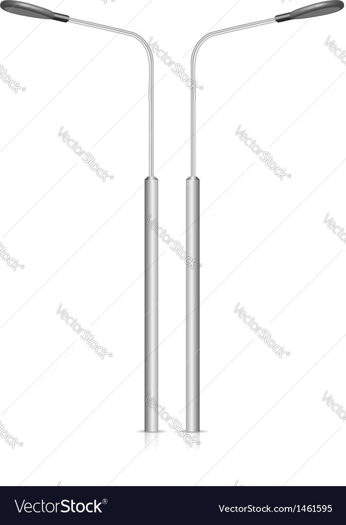 Street lamppost isolated on white background vector | Price: 1 Credit (USD $1)