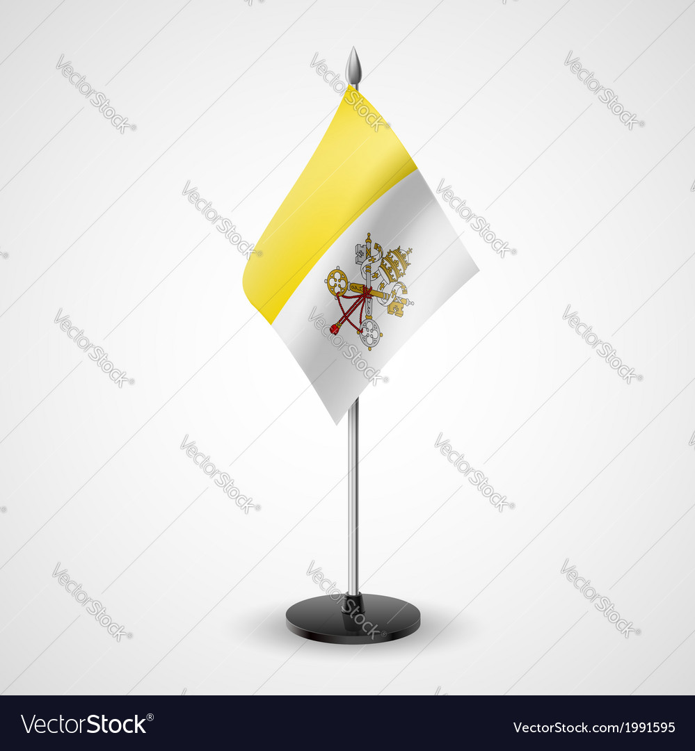Table flag of vatican city vector | Price: 1 Credit (USD $1)