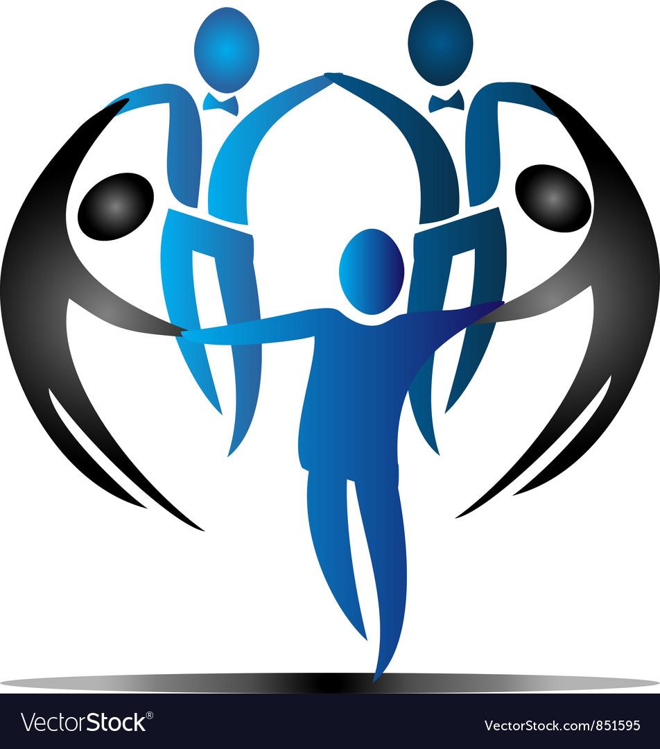 Team business social logo vector | Price: 1 Credit (USD $1)
