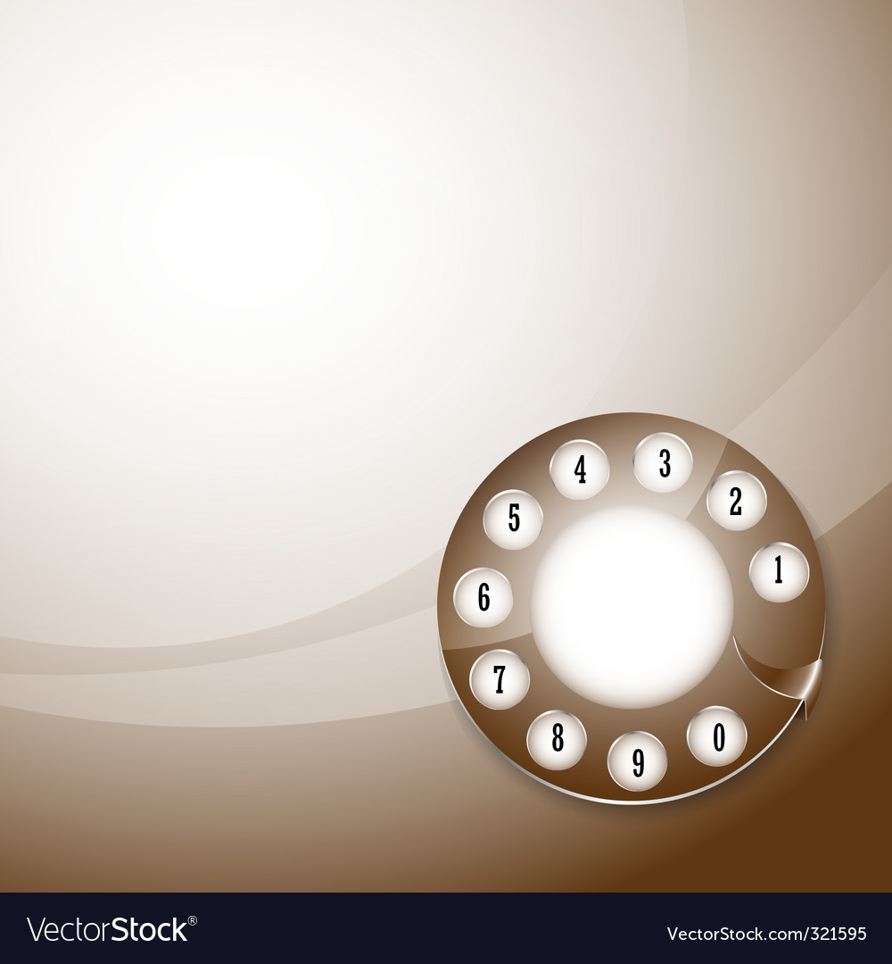 Telephone disk background vector | Price: 1 Credit (USD $1)