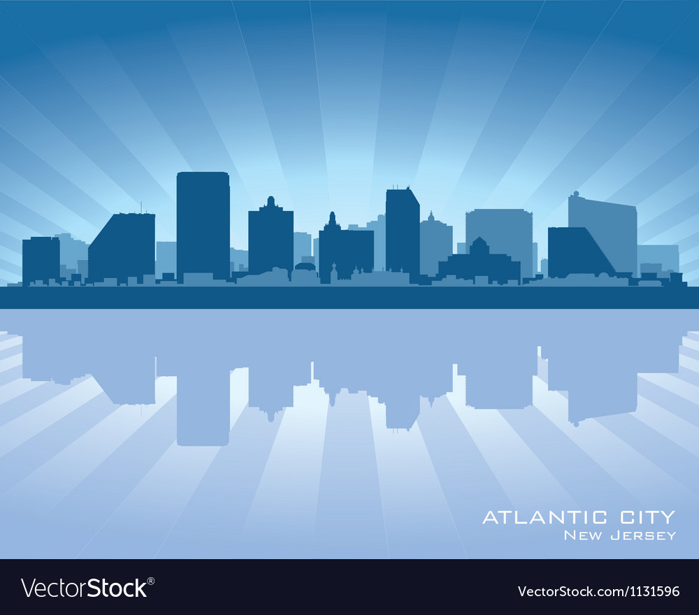 Atlantic city new jersey skyline silhouette vector | Price: 1 Credit (USD $1)