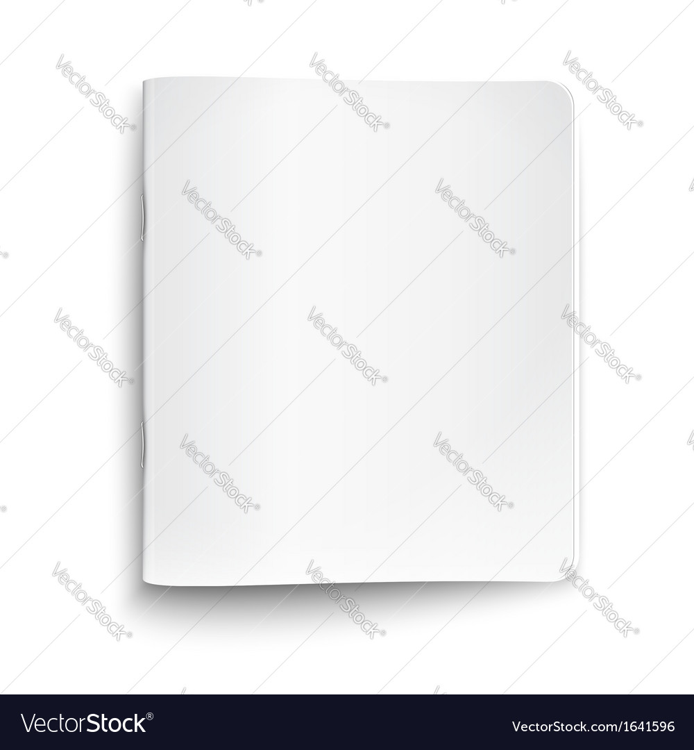 Blank closed copybook on white background vector | Price: 1 Credit (USD $1)