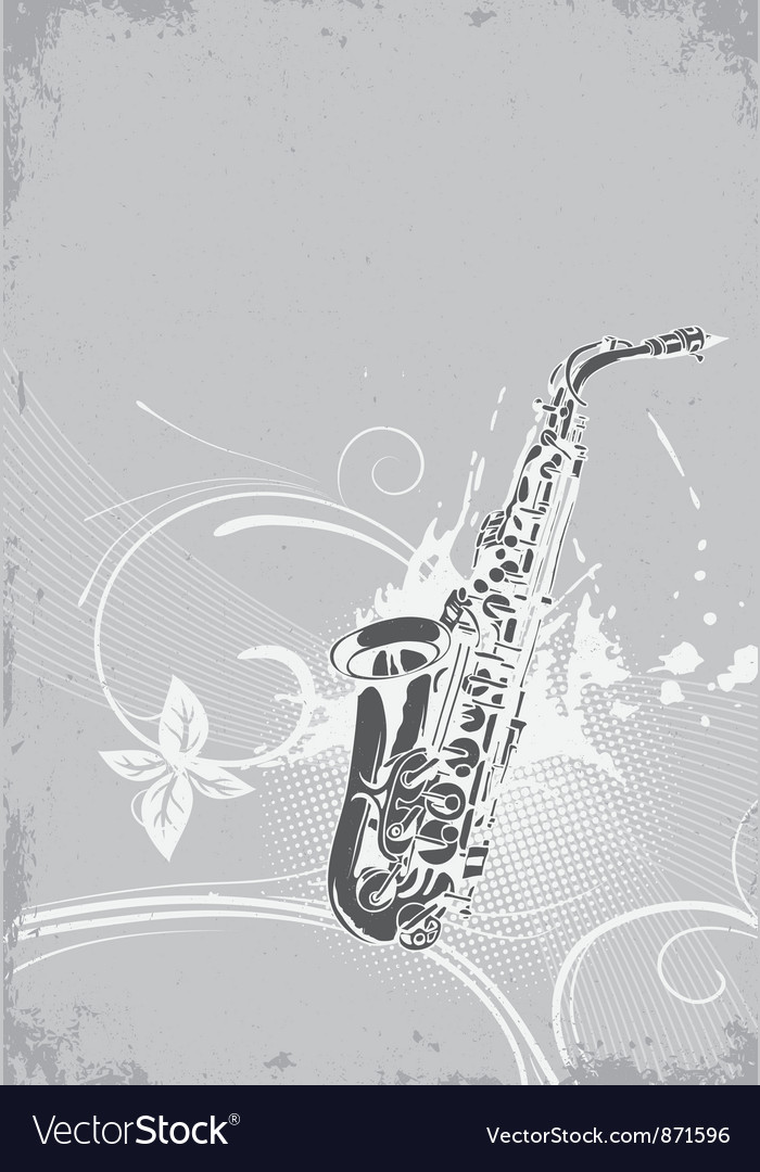 Concert poster with saxophone vector | Price: 1 Credit (USD $1)